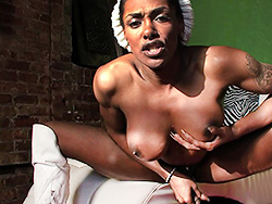 Butthole and penish tease. Black Natalia strokes and spreads